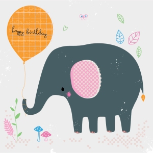 Elephant Card Illustration